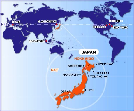 Hokkaido World Map.Passion4japan Home Page